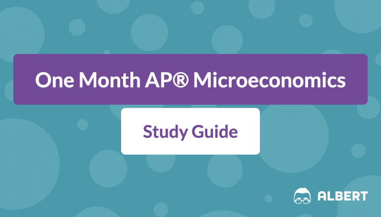 One Month AP® Microeconomics Study Guide