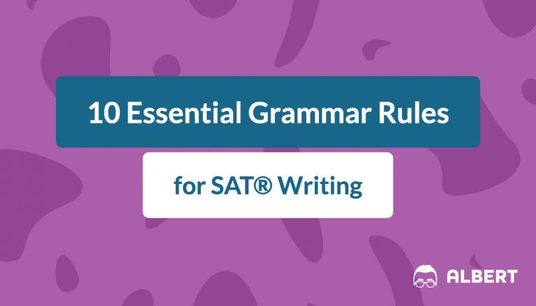 10 essential sat grammar rules