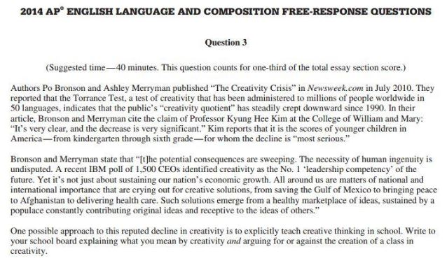 Ap Language Essay  Oklmindsproutco Ap Language Essay