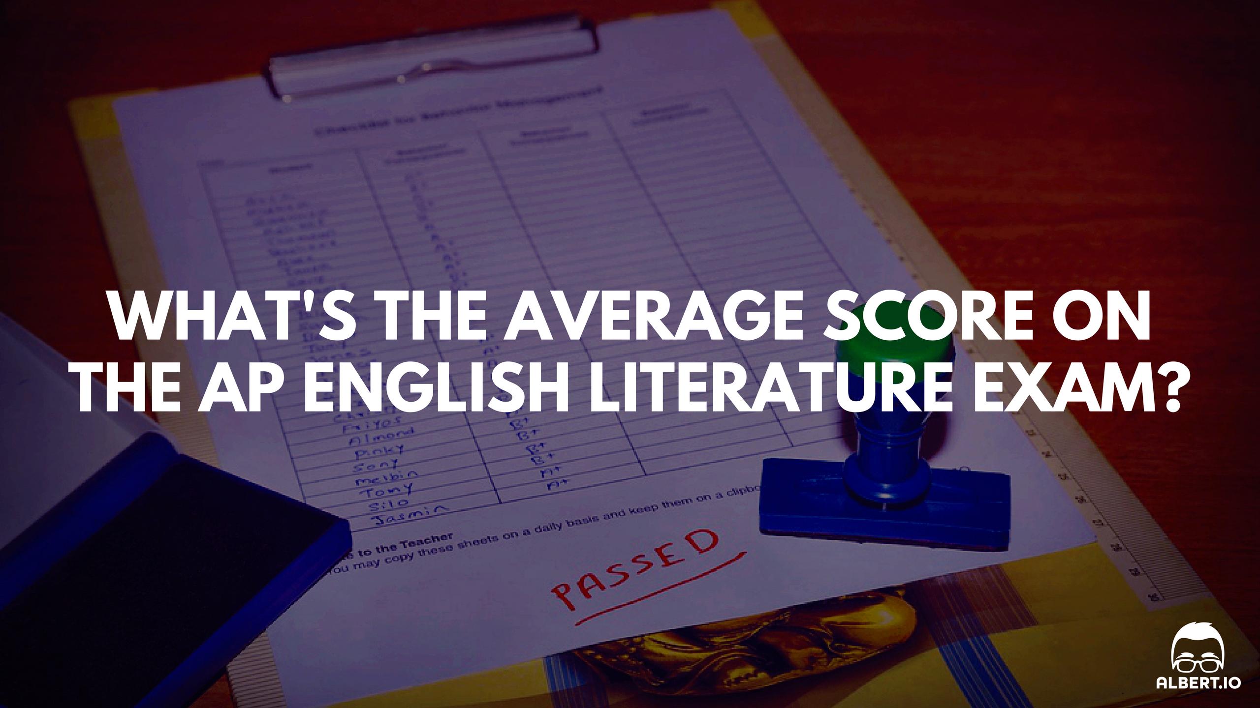 Average AP English Literature Score