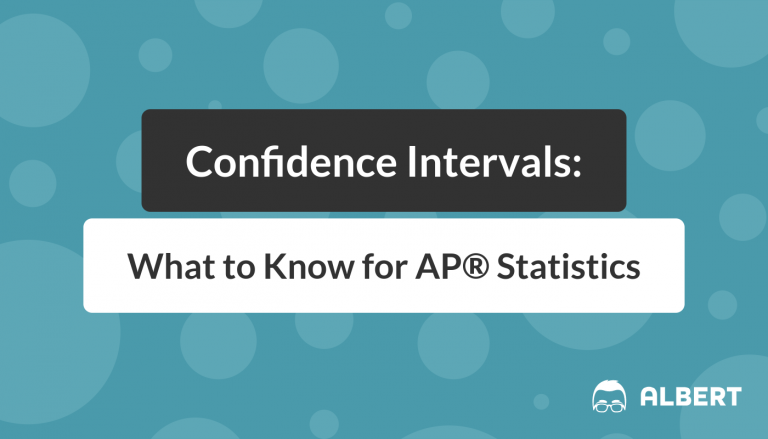 Confidence Intervals - What to Know for AP® Statistics