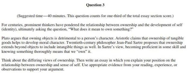 ownership and sense of self argumentative