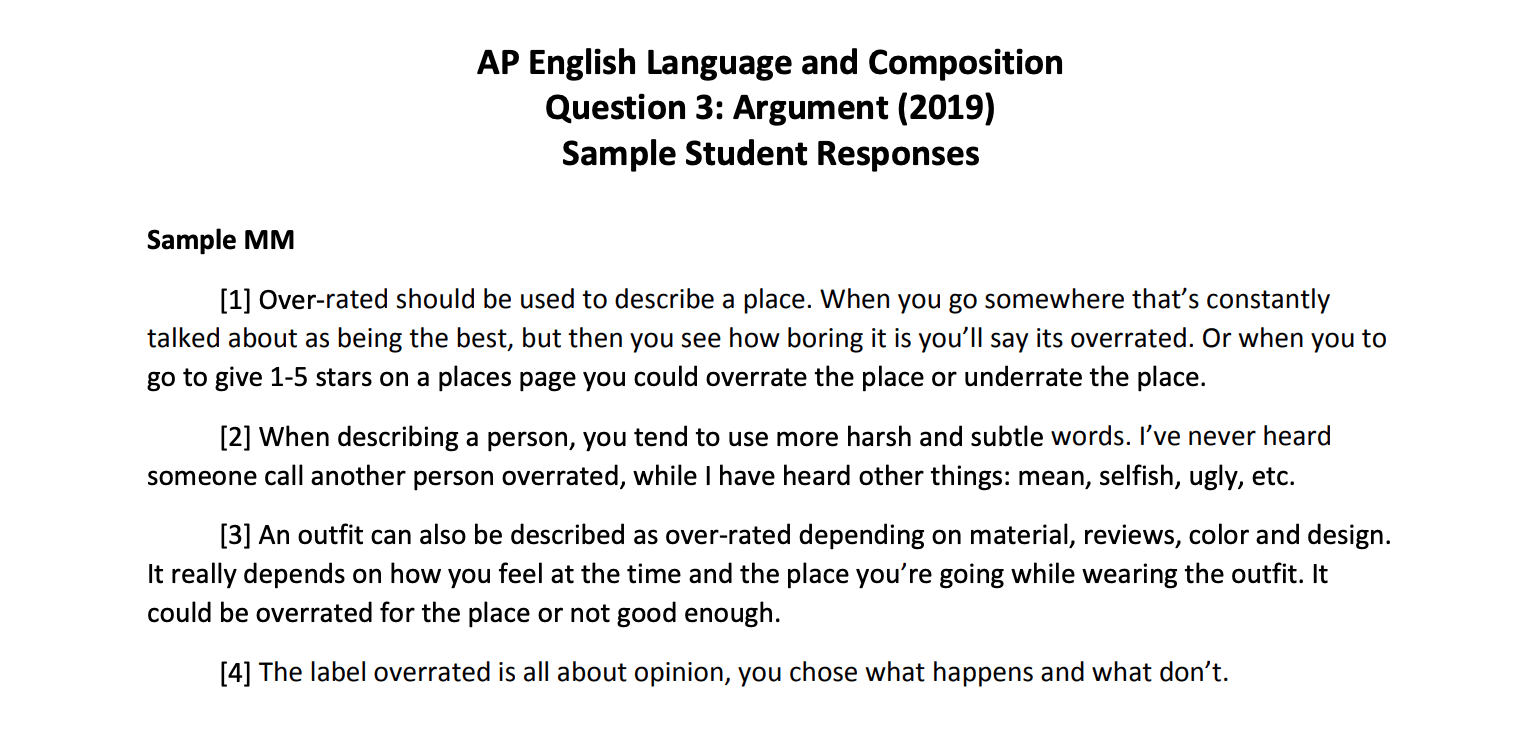 How To Get A 6 On Argument FRQ In AP® English Language