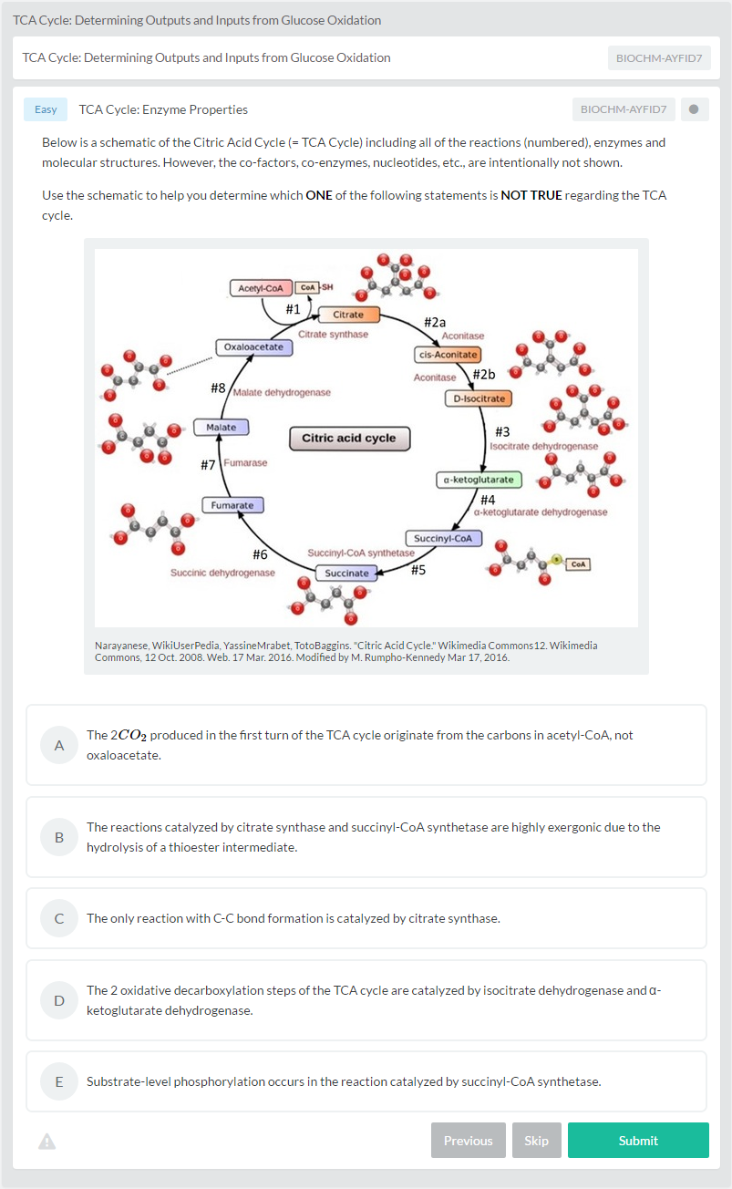 The citric acid cycle a biochemistry crash course albert tca cycle determining outputs and inputs from glucose oxidation biochemistry practice question pooptronica Image collections