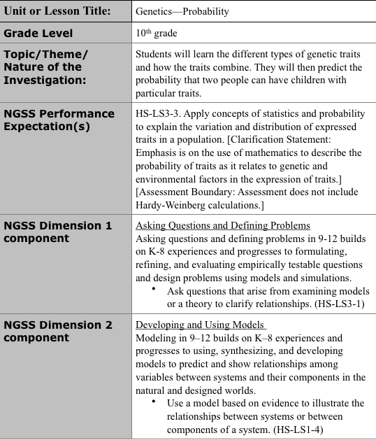 How To Write Ngss Lesson Plans Albert