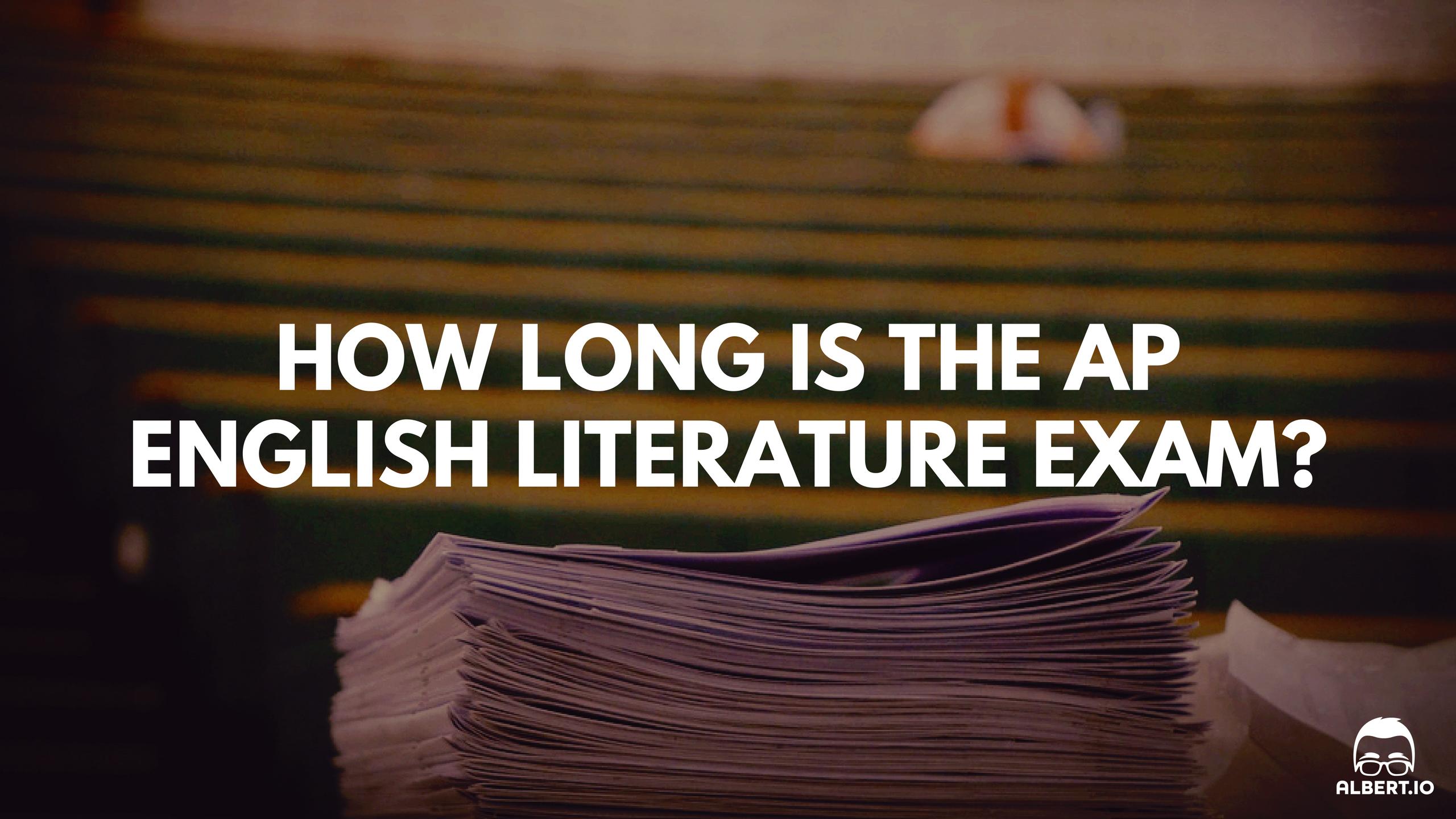 types of essays on the ap english literature exam