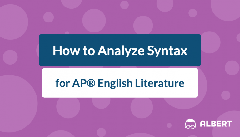 how_to_analyze_syntax for AP® English literature