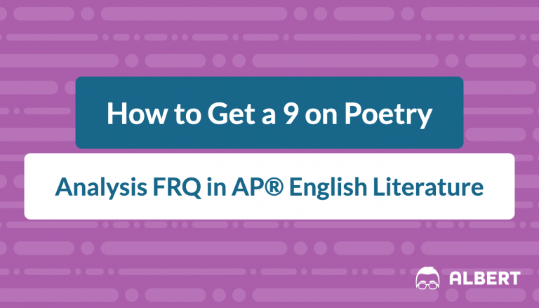 how_to_get_a_9_on_poetry analysis frq in AP® English literature