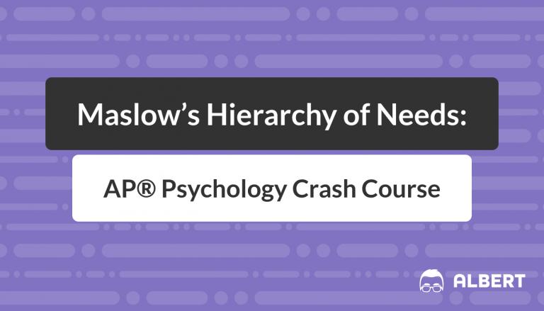 Maslow's Hierarchy of Needs - AP® Psychology Crash Course