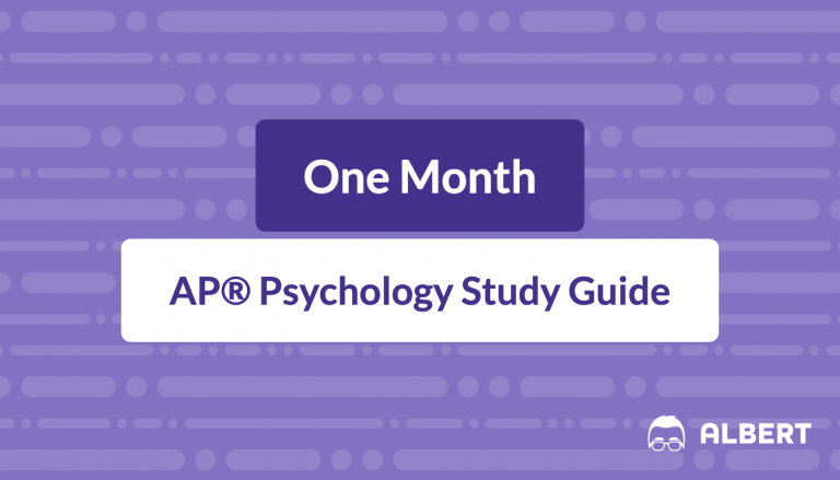 One Month AP® Psychology Study Guide