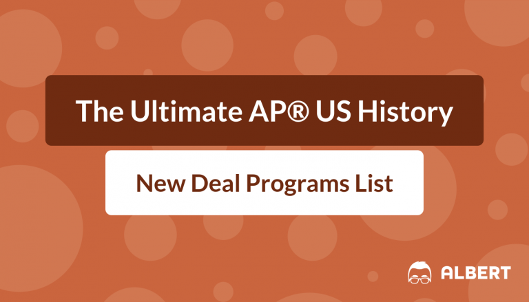 The Ultimate AP® US History New Deal Programs List