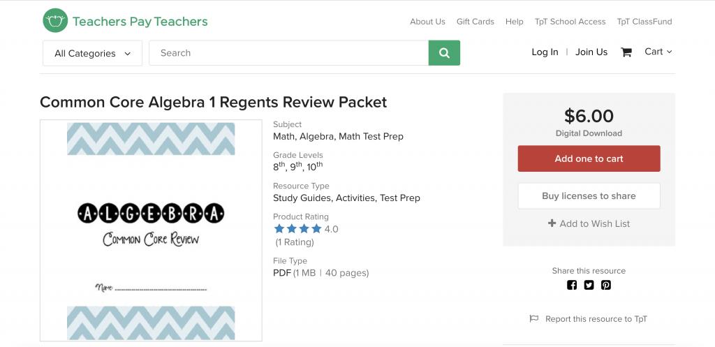 The Best Algebra 1 Regents Review Guide for 2020 | Albert ...