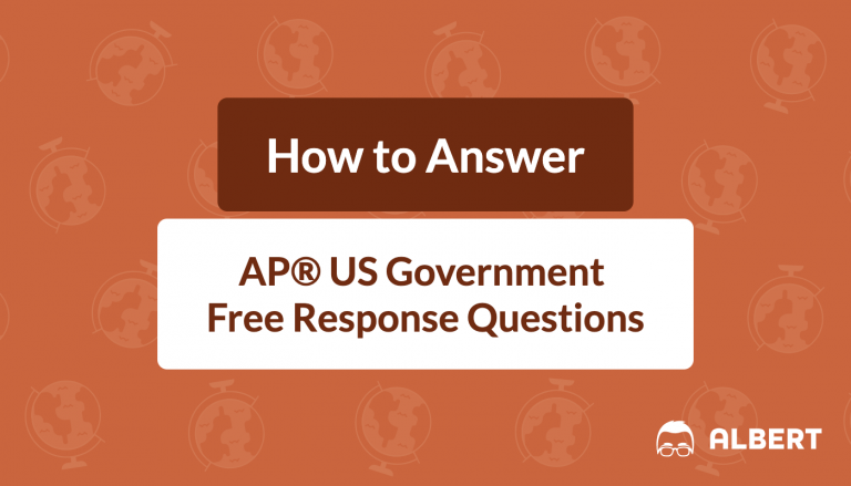 how to answer AP® US Government free response questions