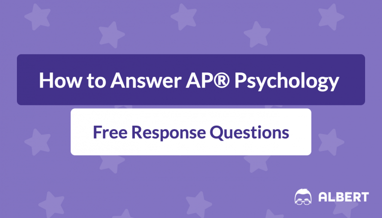 how to answer AP® Psychology free response questions