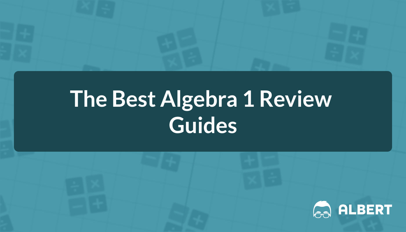 Title card for the best Algebra 1 review guides